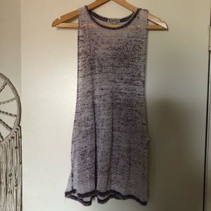 Forever 21 purple burnout muscle tee tank top